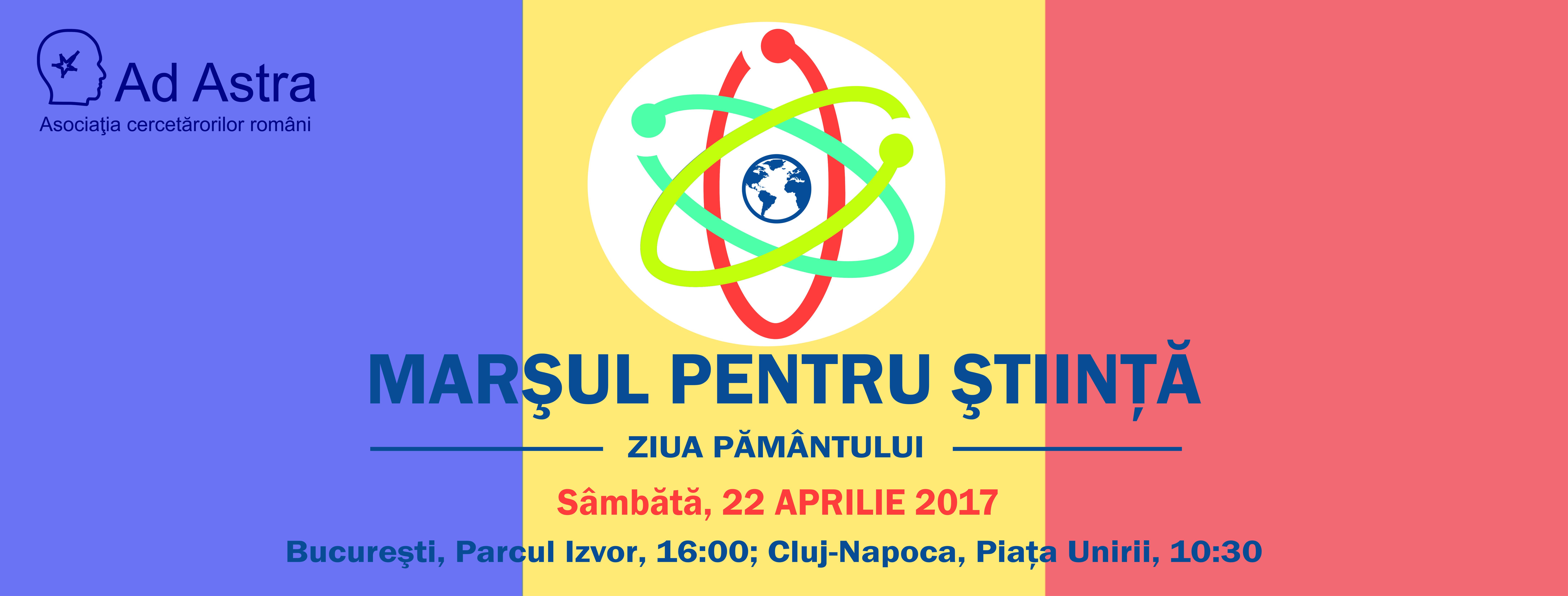 Marşul Pentru Ştiinţă, sâmbătă 22 aprilie, Bucureşti şi Cluj-Napoca